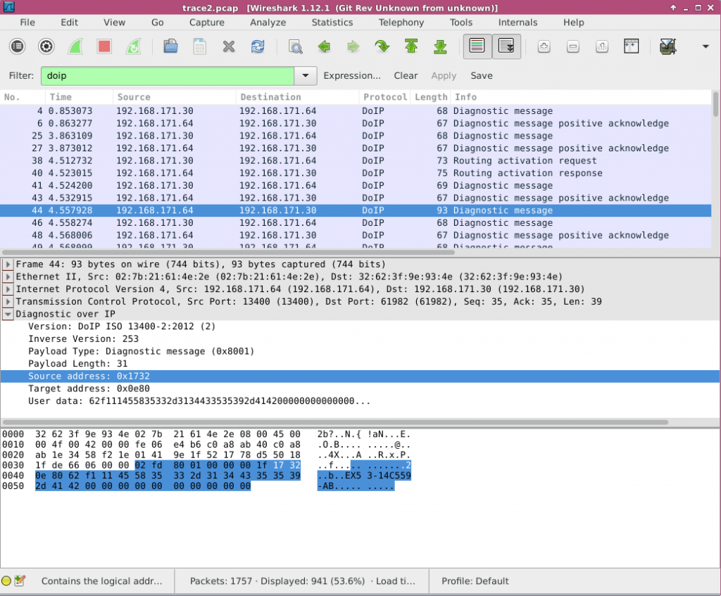 The 2016 AMOS Project Show Case: DoIP Wireshark Plugin