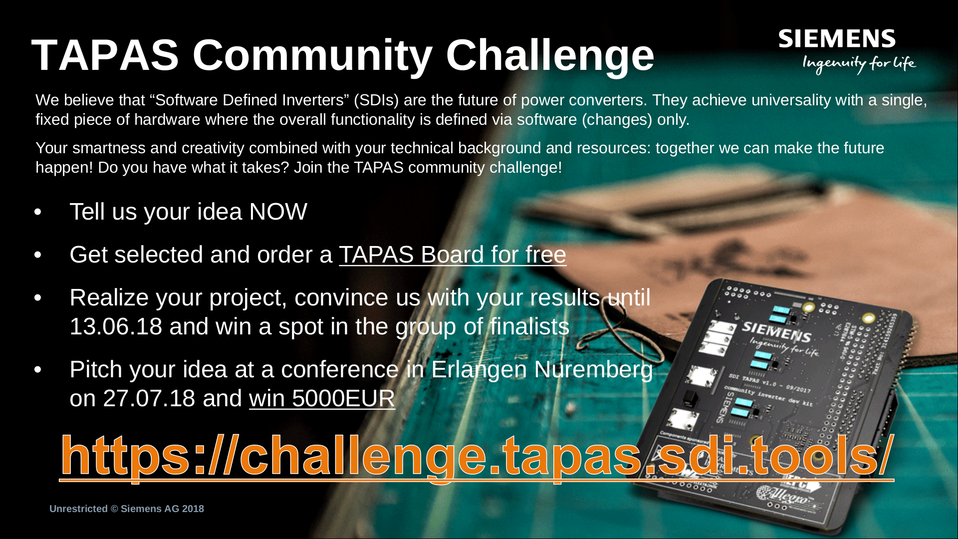 "Towards entry ""FAU's CKI and Siemens present the TAPAS Community Challenge"""